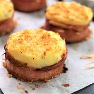 Baked Mashed Potato Cakes W/ Bacon!