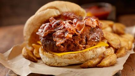 Venison Bacon Cheeseburger!