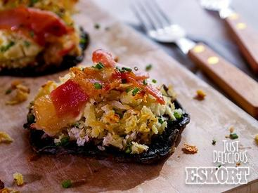 Roasted Bacon Stuffed Mushrooms!
