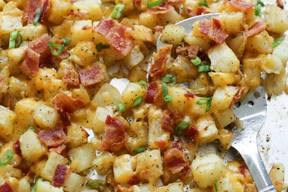 Crispy Cheese & Bacon Potatoes!
