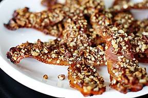Maple Pecan Crusted Bacon!
