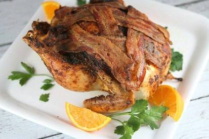 Roasted Chicken W/ Bacon!