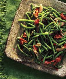 Green Beans W/ Bacon Vinaigrette!