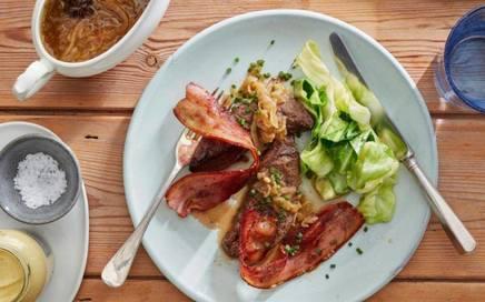 Lambs Liver W/ Bacon & Onion Gravy!