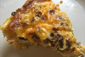 Bacon Egg & Cheddar Quiche!