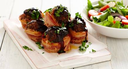 Bacon Wrapped Meatloaf Minis!