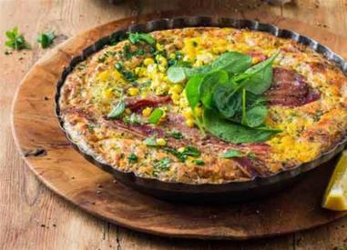 Cheesy Bacon & Corn Tart!