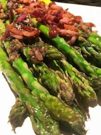 Roasted Asparagus W/ Bacon Vinaigrette!