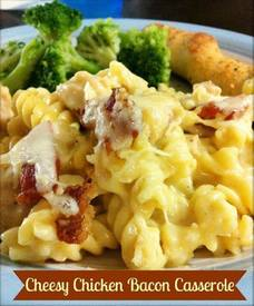 Cheesy Bacon Chicken Casserole!