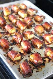 Bacon Wrapped Pineapple Bites!