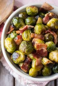 Roasted Brussels Sprouts & Bacon!