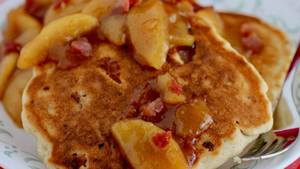Bacon Bourbon Apple Pancakes!