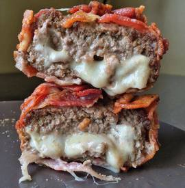 Bacon Wrapped Cheese Filled Burgers!