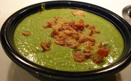 Spring Pea Soup W/ Bacon!