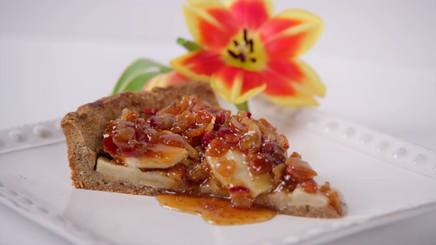 Apple Tart W/ Bacon Fig Syrup!