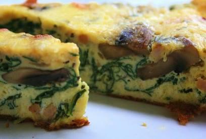 Bacon Mushroom & Spinach Frittata!