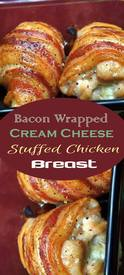 Bacon Wrapped Stuffed Chicken Breast!