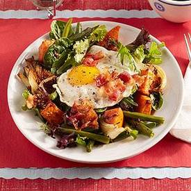 Fried Egg Salad With Bacon!