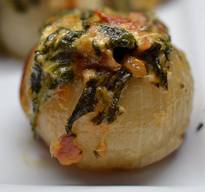Bacon & Spinach Dip Stuffed Onions!