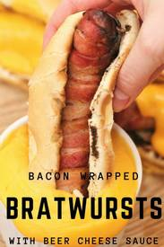 Bacon Wrapped Bratwursts!