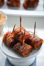 Bacon Wrapped Kiebasa Bites!