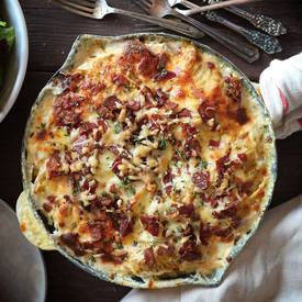 Bacon & Gruyere Scalloped Potatoes!