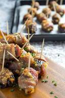 Bacon Wrapped Dates & Goat Cheese!