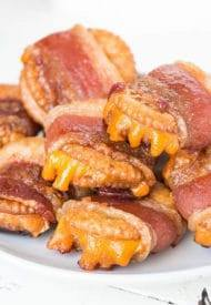 Bacon Wrapped Cheesy Crackers!