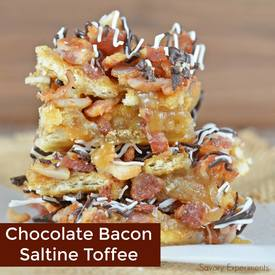 Chocolate Bacon Saltine Toffee!