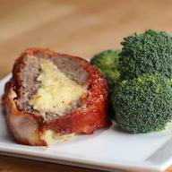 Bacon Wrapped Mashed Potato Stuffed Meatloaf!