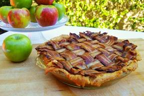 Maple Bacon Bourbon Apple Pie!
