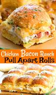 Chicken Bacon Ranch Pull Apart Rolls!