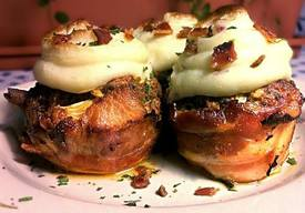 Bacon Wrapped Meatloaf Cupcakes!