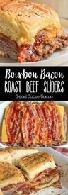 Bourbon Bacon Roast Beef Sliders!