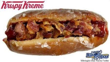 Krispy Kreme Bacon Hot Dog!
