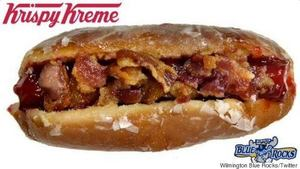Krispy Kreme Bacon Hot Dog!
