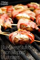 Cheese Stuffed Bacon Wrapped Mushrooms!