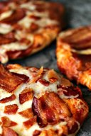 Grilled Mini Bacon Pizza!