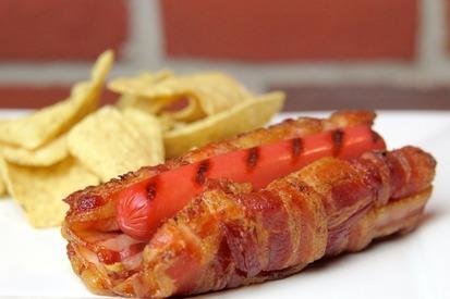 All Bacon Hot Dog Bun!
