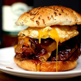 Grilled Bbq Bacon Meatloaf Sandwich!