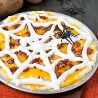 Spooky Mashed Potato Bacon Casserole!