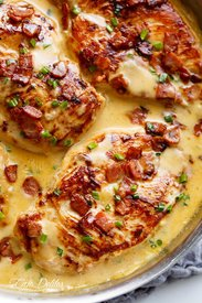 Beer Cheese Chicken With Bacon!