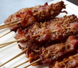 Maple Walnut Bacon On A Stick!
