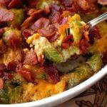 Cheesy Bacon Brussels Sprout Casserole!