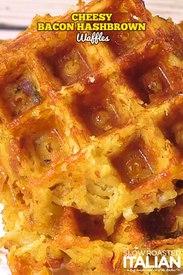 Cheesy Bacon Hash Brown Waffles!