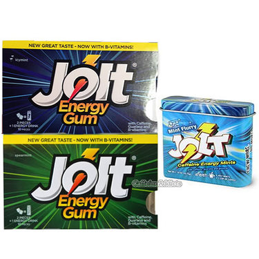 Jolt Combo Pack - Caffeinated Gum & Energy Mints w/ Caffeine - 3 pc Set