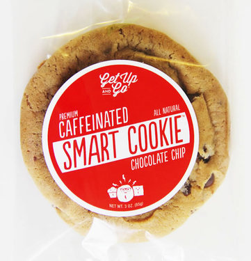 Caffeinated Chocolate Chip Cookies (12 pack) - Energy Cookie Caffeine Snack