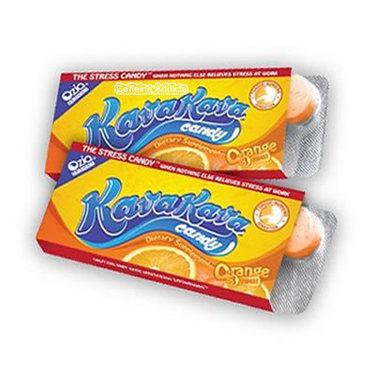 Kava Kava Candy - Stress Relief Tablets - Orange Flavor (2 Packs)