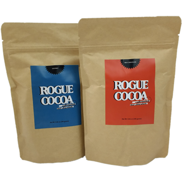 Rogue Cocoa Original Caffeinated Hot Chocolate Mix (2 Pack Sampler) - Hot Cocoa with Caffeine Double Pack (2 Flavors)