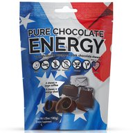 Pure Chocolate Energy Chews - All Natural Caffeinated Dark Chocolate Energy Bites (30 Count)